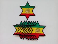 """10 Rasta Lion of  Judah in Star Embroidered Patches 3.25""""x2.75"""""""