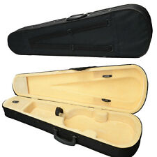 New Student Durable Cloth Fluff Triangle Shape Case for 4/4 Violin Black