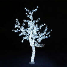 5ft Height LED Christmas New year decor Light Crystal Cherry Blossom Tree White