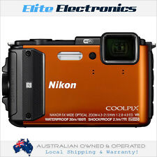 NIKON AW130 COOLPIX DIGITAL COMPACT CAMERA ORANGE 16MP 5X ZOOM WATERPROOF