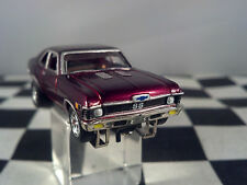 70 CHEVY NOVA SS Rare Black Cherry T JET 500 HO SCALE SLOT CAR Cool-Wheels