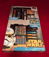 LARGE STAR WARS 52 PIECE ART CASE SET SKETCH DRAWING PEN TOY PARTY BIRTHDAY GIFT