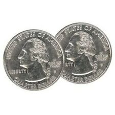 Double Sided Coins Quarters Heads US tails trick magic gift toy Joke