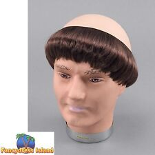MONK PRIEST VICARS SHORT HAIR/BALD WIG Adults Mens Fancy Dress Costume