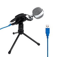 Portable Professional Podcast Studio USB Microphone for Skype MSN Recording New