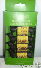 DACHSHUND DOG CORN HOLDERS! SET OF 4! NEW! BY: SUR LA TABLE! DOG LOVERS!