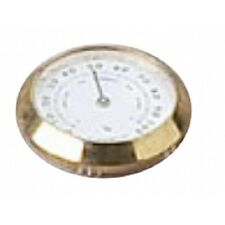 "Analog Hygrometer ~ Brass 1 3/8"" Frame Glass Hygrometer and Humidifier Set #4"
