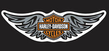 HARLEY DAVIDSON Silver Straight Wing 8 inch  DECAL