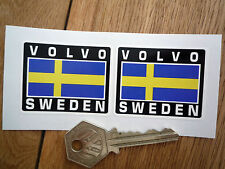 VOLVO SWEDEN Flag Style Stickers 50mm Pair Swedish 240 244 Amazon Rally Race