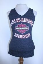 Harley Davidson Top XS/S Gray Charcoal Multicolor Speckled Sleeveless Cycle Tank