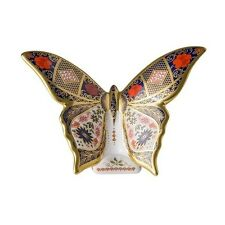 New Royal Crown Derby 1st Quality Old Imari 1128 SGB Butterfly Paperweight