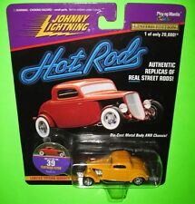 Johnny Lightning Hot Rods Flathead Flyer Posies Inc 39-14873 Yellow MOC 1997