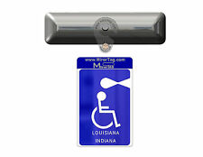 LA & IN states Handicap Tag/Placard/Card Holder & Protector-  ON & OFF in a Snap