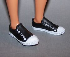 Ken Doll Shoes Black & White Sneakers fit Model Muse & Fashionista Ken Doll