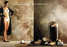 PUBLICITE ADVERTISING 116  1988  Lou (2p)  soutien gorge sous vetements