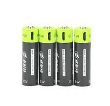 NEW 4pcs ZNTER 1.5V AA 1250mAh li-polymer rechargeable lithium ion USB battery