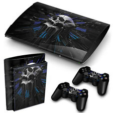 PS3 SUPERSLIM PLAYSTATION 3 SKIN ADESIVI in PVC per console & 2 PADS Orologio TESCHIO