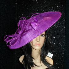 PURPLE HATINATOR DISC HAT WEDDING ASCOT FORMAL OCCASION MOTHER OF THE BRIDE