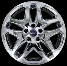 "4 CHROME 13-16 Ford Fusion 17"" Wheel Covers Rim Skins Hub Caps fits Alloy Wheels"
