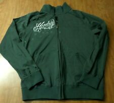 HURLEY gray athletic jacket med skateboarding surfing Cali embroidery work-out