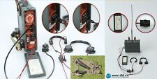 DRAGON DREAMS DID 1/6 WW II GERMAN WOLFRAM RADIO HEADPHONES THROAT MIKES A-FRAME