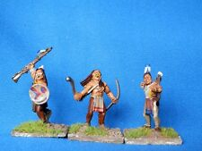 WILD WEST PLAINS INDIANS 25MM - 3 X WELL  PAINTED METAL MODELS