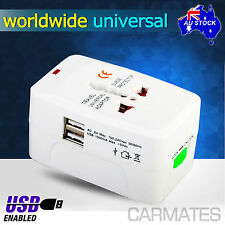 All in One USB Universal World Travel Power Charger AC Adaptor Plug US AU UK EU