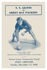 NY Giants vs Green Bay Packers *LARGE POSTER*   NFL Football Playoffs 1938