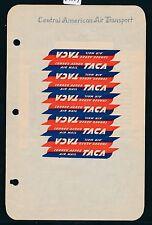 """84519) Luftpost Zettel Aufkleber Air mail, USA Central... """"TACA"""" Kehrdrucke"""