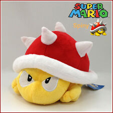 Spiny Koopa Super Mario Bros Plush Soft Toy Red Thorn Beetle Stuffed Animal 8""