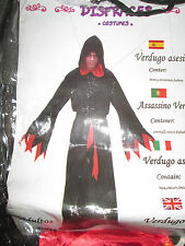 Adults VERDUGO Murderer Scream cloaked Horror Halloween Fancy Dress Costume new