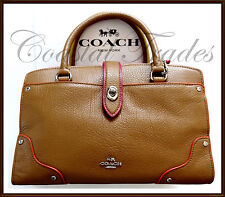 NWT NEW $295 Coach Edgestain Mercer 24 Satchel Leather Hand Bag '17 WALNUT BROWN