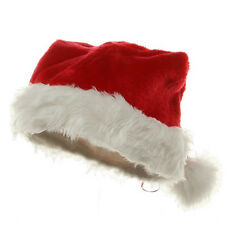 Deluxe Plush Santa Clause Christmas Hat Red & White Holiday Cap
