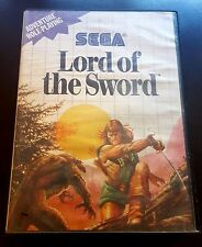 Lord of the Sword Sega Master System SMS 100% Authentic! Cleaned! Rare!