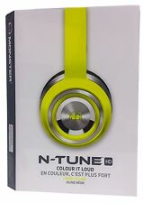 Monster N-TUNE Noise Isolating On-Ear Headphones w/ ControlTalk - Neon Yellow