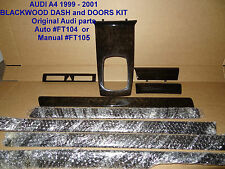Audi A4 B5 REAL BLACKWOOD DASH AND DOOR KIT (GREY WOOD & CARBON Also Available)