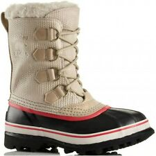 NEW Sorel Caribou Womens Insulated -40° Herringbone Snow Pac Boots PINK Tan 11
