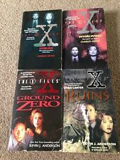 The X-Files Set of 4 Paperback Novels Kevin J. Anderson Charles Grant 1995-1997