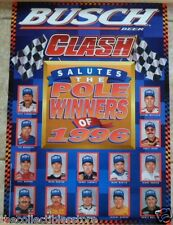 1996 BUSCH CLASH NASCAR POLE PHOTO POSTER - DALE EARNHARDT JEFF GORDON PLUS MORE