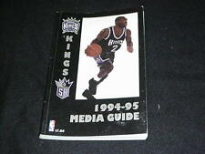 1994-95 Sacramento Kings NBA Basketball Media Guide