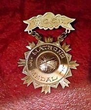 WOMENS CHRISTIAN TEMPERANCE UNION ~ 14K GOLD MATRON'S MEDAL CIRCA 1900