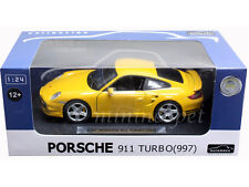 AUTOMAXX 850102 PORSCHE 911 997 TURBO 1/24 DIECAST YELLOW