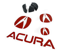 2007-08 ACURA TL RED BADGE DECAL EMBLEM GRILL+BUMPER+TRUNK+STEERING WHEEL Type-S