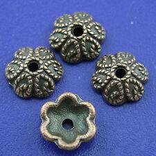 35pcs copper-tone flower beads cap h1807