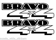 BRAVO 4X4 Dual Cab Ute Canopy bullbar Decal Stickers PAIR 200mm