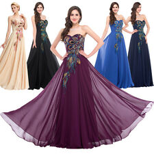 PLUS SIZE 26 PEACOCK Long Evening Dress Cocktail Prom Ball Party Gown MAXI Dress