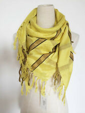 BRAND NEW DRIES VAN NOTEN COTTON SILK SQUARE SCARF WITH FRINGES