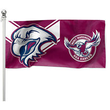 122351 MANLY SEA EAGLES NRL POLE FLAG 180CM X 90CM TEAM LOGO