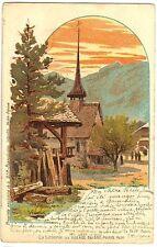 CPA Carte Fantaisie Suisse La Scierie au village