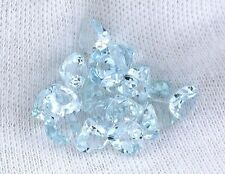 ONE 5mm Heart Natural Light Ice Blue Brazilian Aquamarine Gemstone Gem Stone